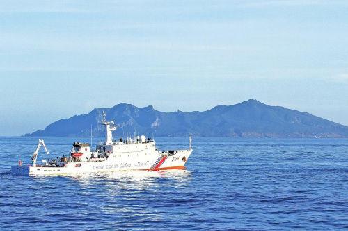 资料图:中国海警船编队巡航钓鱼岛海域