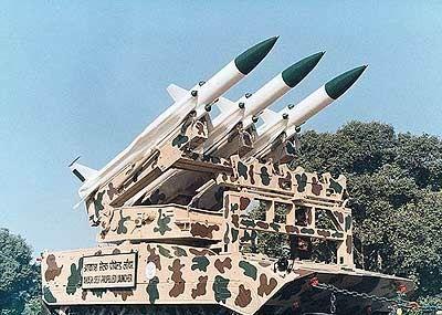 """印度国产的""""天空""""地对空导弹"""