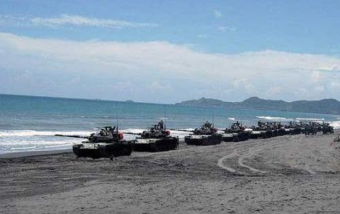 """台军""""汉光""""军演主力作战坦克。转自中国台湾网"""