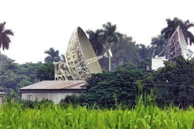 资料图:洛尔德斯监听站位于古巴哈瓦那外约28公里,距离美国海岸250公里。
