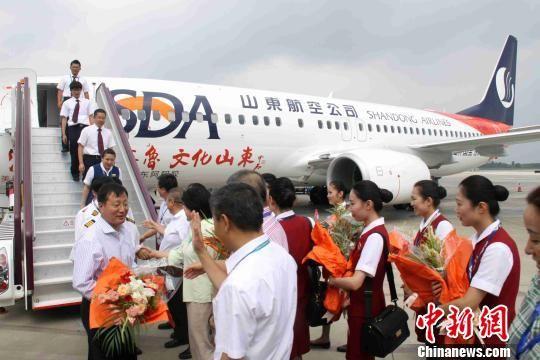 喷涂彩绘飞机 山东航空本月将开通威海直飞台北航班