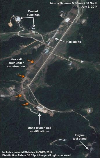 资料图:朝鲜西海卫星发射场卫星图片