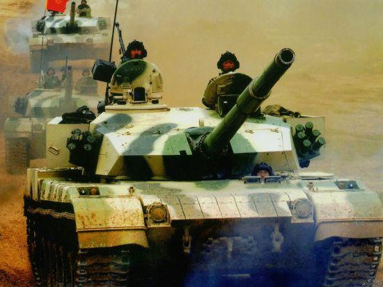 资料图:中国96A式主战坦克。