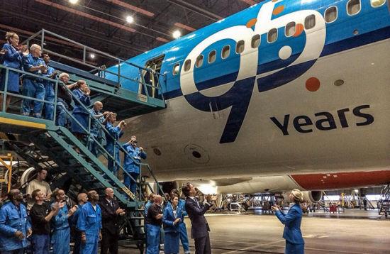 荷航推出的一款印有 KLM 95 years印花图样的麦道MD-11飞机??。