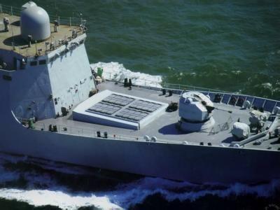 资料图:054A护卫舰可能采用了美国发射阿斯洛克火箭鱼雷的方式来发射。