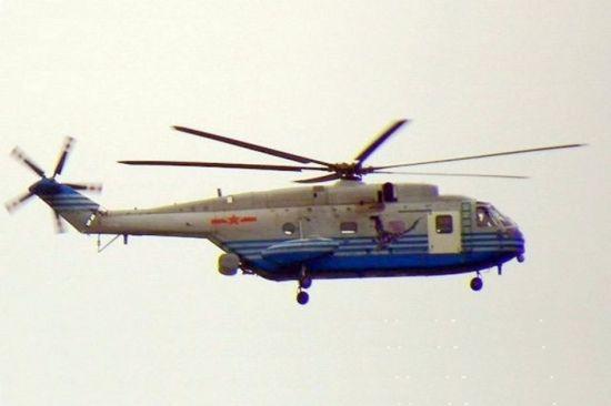 资料图:中国直-18预警机直升机