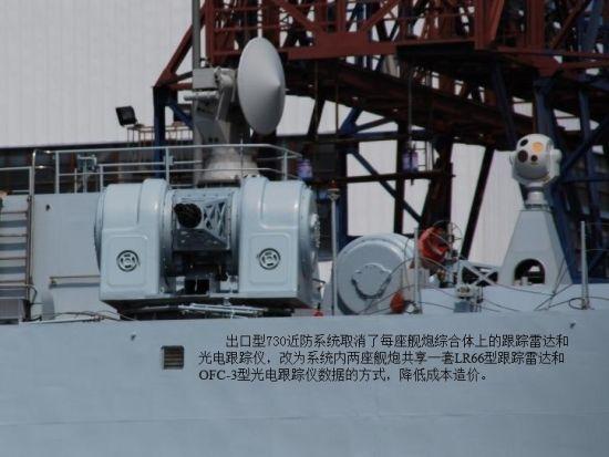 资料图:中国出口的730近防系统