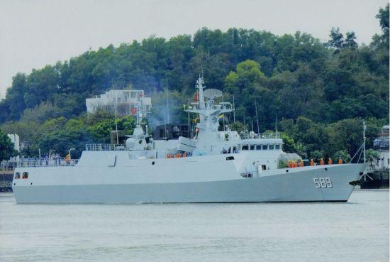 资料图:国产056级轻护卫舰已有16艘涂舷号