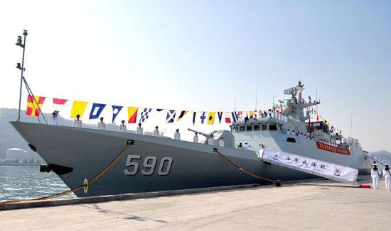 资料图:我海军第11艘056级护卫舰 威海舰
