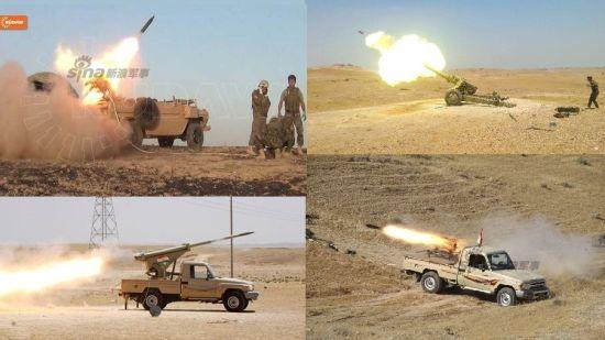 资料图:库尔德人也大量使用火箭炮与ISIS组织进行作战,其中不乏中国107火箭炮身影