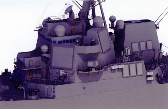 资料图:美海军阿利-伯克III型驱逐舰相控阵雷达换装为AMDR雷达