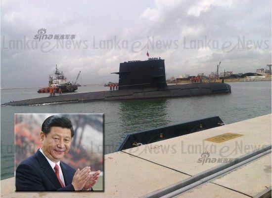 资料图:我军宋级潜艇现身斯里兰卡中国援建港口,这标志着我国海军迈向远洋的关键一步。
