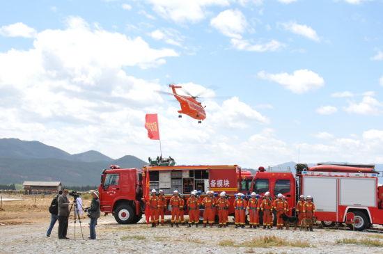中航工业AC313、AC311两型民用直升机地震救援实战演练精彩展现