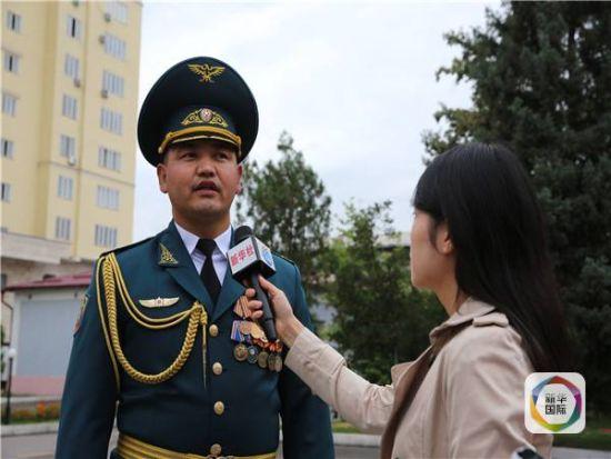 吉尔吉斯斯坦阅兵方队(资料图)
