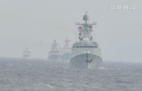 此次出现在阿拉斯加的中国舰队此前参与了中俄海军联合演习