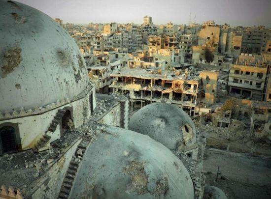 图为叙利亚霍姆斯al-Khalidiyah社区