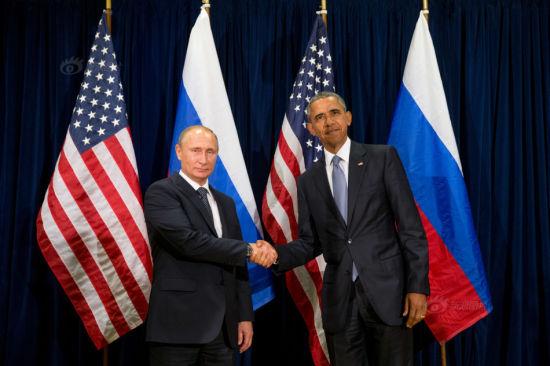 资料图:普京会晤奥巴马