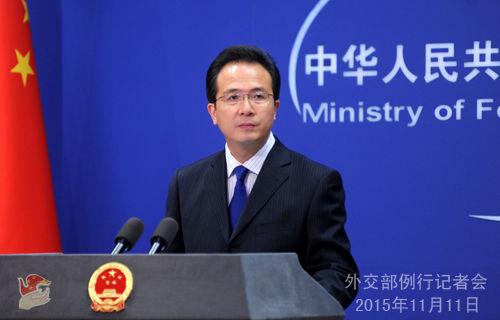 洪磊主持11月11日外交部例行记者会