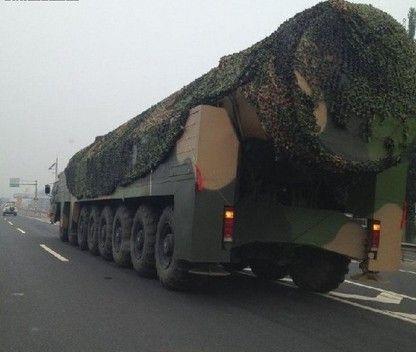 网传东风-41导弹发射车照片