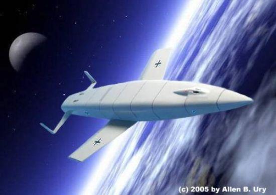 """桑格尔""""银鸟""""洲际轨道轰炸机想象图"""