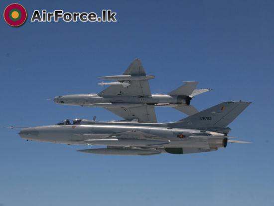 斯里兰卡空军现役的F-7GS战斗机