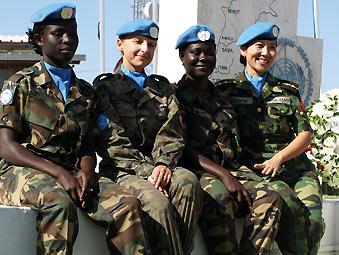 联合维和部队中 中国女维和军人最漂亮!-焦点图汇总图片