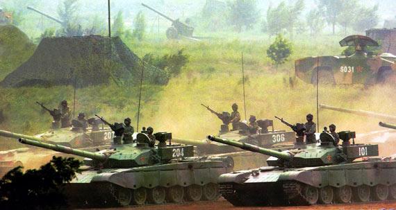图文:99式重型主战坦克已经列装北方两个集团军
