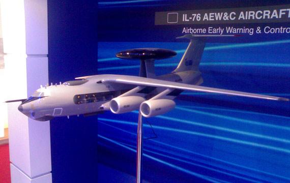 """图文:印度版""""费尔康""""空中预警机方案模型"""