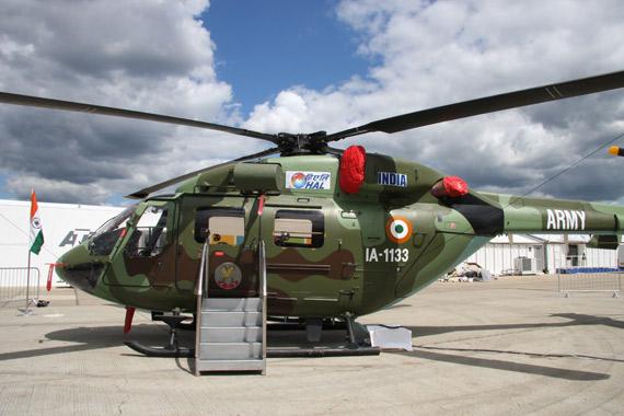 图文:印度国产北极星直升机侧面