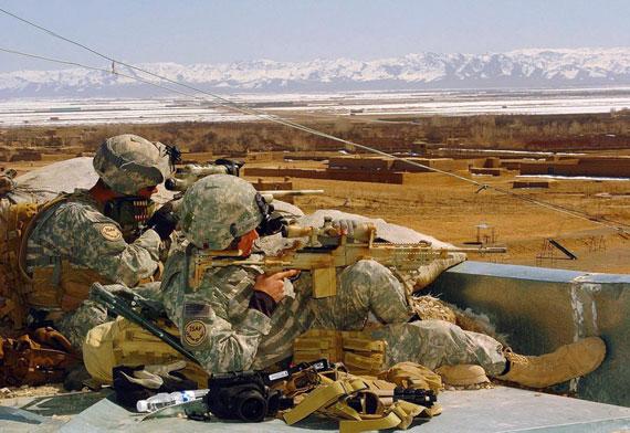 资料图:在阿富汗作战的美军狙击手