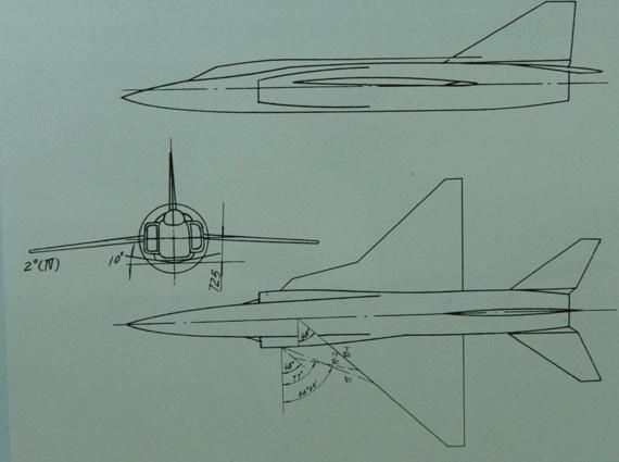 歼13-IV方案,采用带边条的梯形翼。