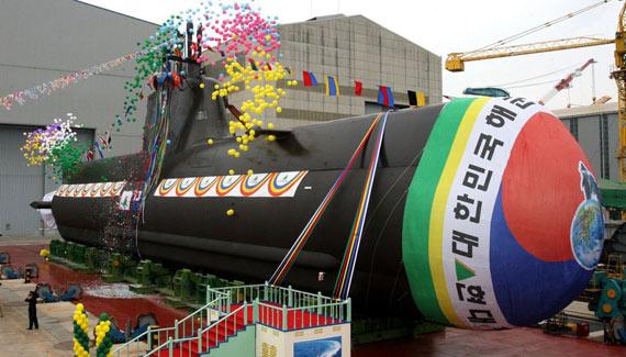 图文:韩国海军最新下水的AIP动力潜艇