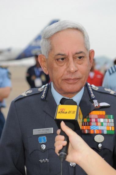 印度空军司令法利・H・梅杰上将接受专访。(陈诚摄 新浪网独家版权,禁止转载)