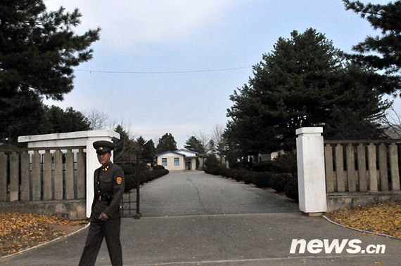 the Korean armistice negotiations location at the door. Xinhua News Agency reporter Liu Weishe