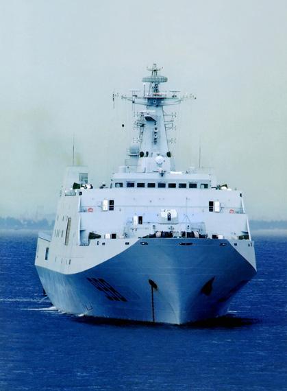资料图:中国海军最新998号大型登陆舰