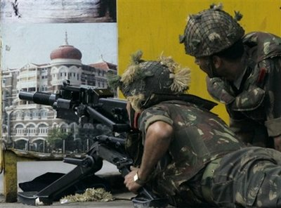 Indian soldiers exchanged fire with the terrorists