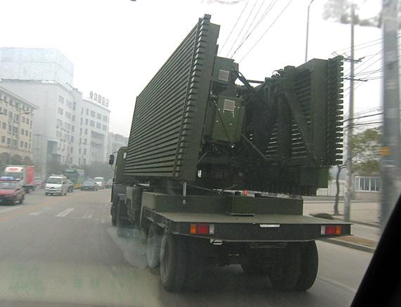 资料图:我军先进的大型机动式雷达车