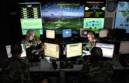 U.S. Air Force Network Warfare Command scene 。