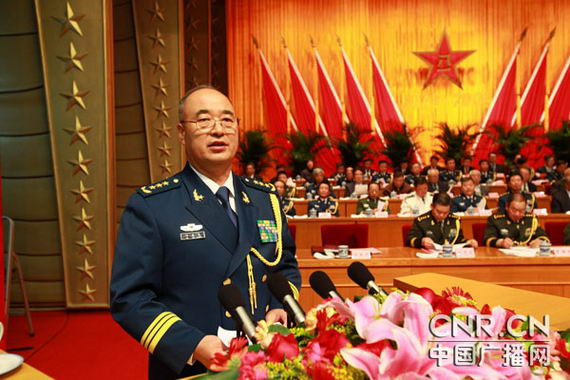Central Military Commission Air Force commander Xu Qiliang Tanchao She spoke at the celebration rally