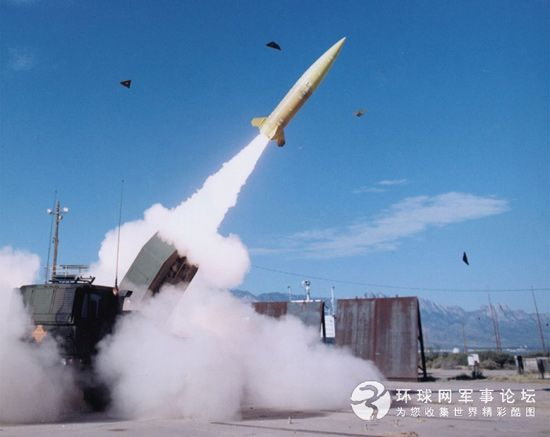 U.S. ATACMS tactical missile tests