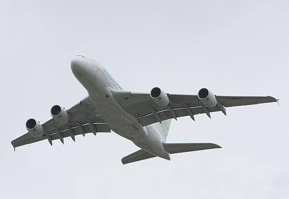 图文:空客公司A380宽体客机是全球最大的客机