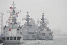 2009海上阅兵参阅外国军舰齐聚青岛港