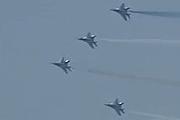 朝鲜空军米格-29战机编队参阅
