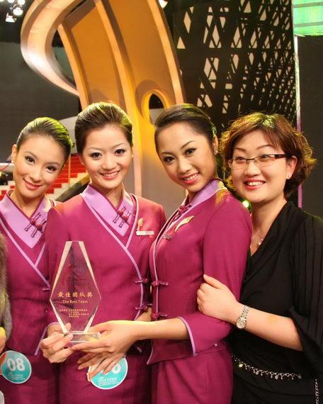 吉祥航空获国际航空小姐大赛最佳团队奖。