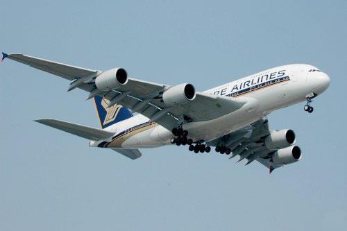 资料图:新加坡航空A380客机(摄影:苏雨农)-新加坡航一架空客A