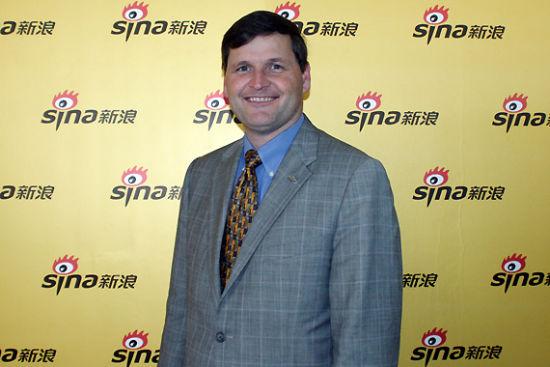 波音公务机总裁史蒂夫・泰勒(Steve Taylor)作客新浪航空频道高端访谈谈中国公务机市场
