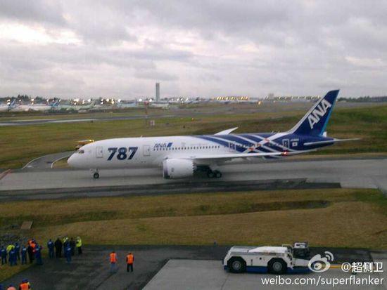 全球首架787准备从西雅图飞赴日本(摄影 陈诚)