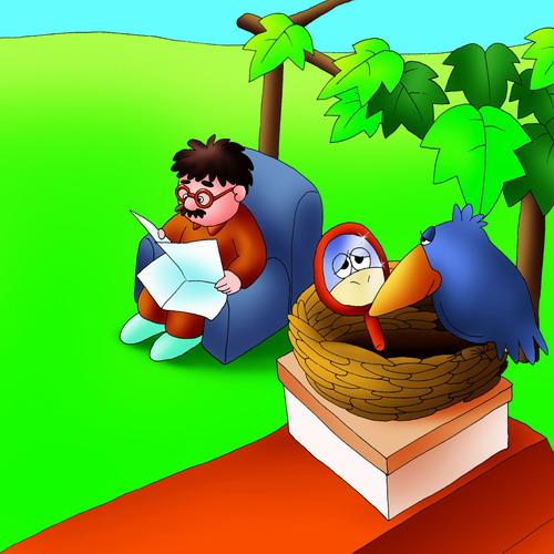 乌鸦动画图片可爱