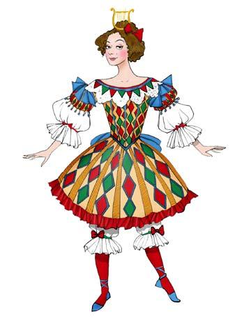 图:《灰姑娘》服装设计之哈欠