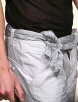 腰带巧用绳结装饰